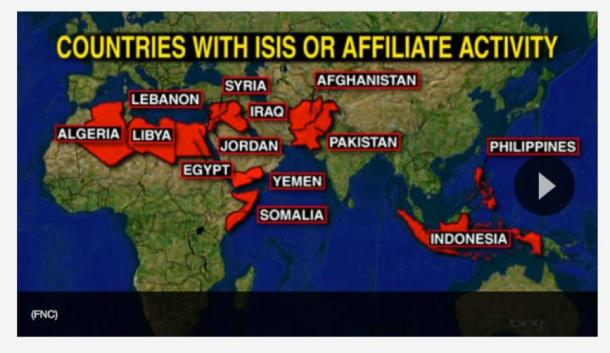 ISIS_countries_Map