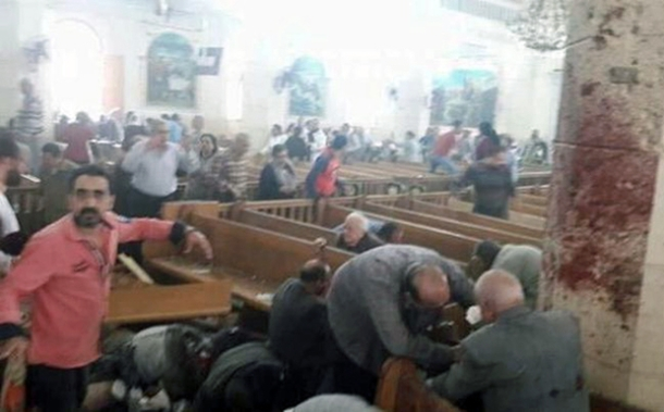 Tanta, Egypt, church blast (screengrab)